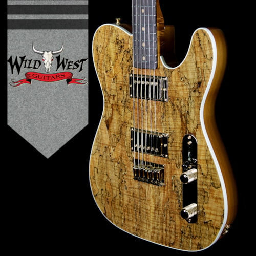 2018 Fender Custom Shop Paul Waller Masterbuilt Artisan Spalted Maple Top Telecaster HH African Blac