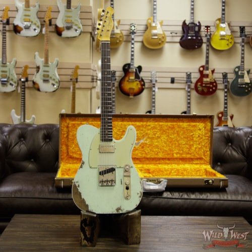 2018 Fender Custom Shop Super Faded Aged  60s Telecaster Custom HS Flame Neck Heavy Relic Surf Green Super Faded Aged Surf Green, Brand New