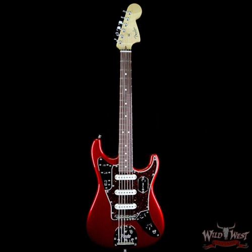 2018 Fender Parallel Universe Jaguar Stratocaster Electric Guitar Candy Apple Red Candy Apple Red, Brand New