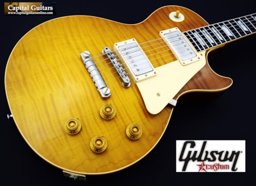 2018 Gibson Custom '59 Les Paul Brazilian  Vintage Lemon 8.2 lbs!