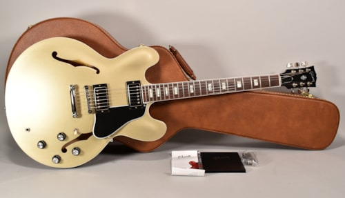 2018 Gibson Memphis ES-335 Baroque Gold Metallic Finish Electric Guitar w/OHSC