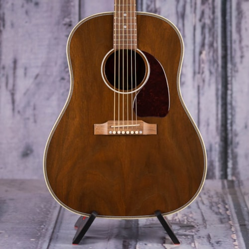 Used 2018 Gibson USA J-45 Herringbone All Walnut Acoustic/Electric, Antique Natural