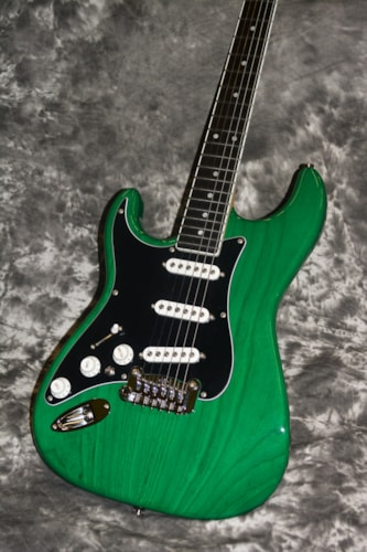 2018 G&L USA S-500 LEFTY Clear Forest Green, Brand New, Hard, $1,995.00