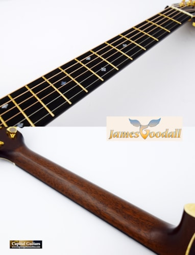2016 Goodall Cocobolo Parlor 14-Fret, Short Scale Natural