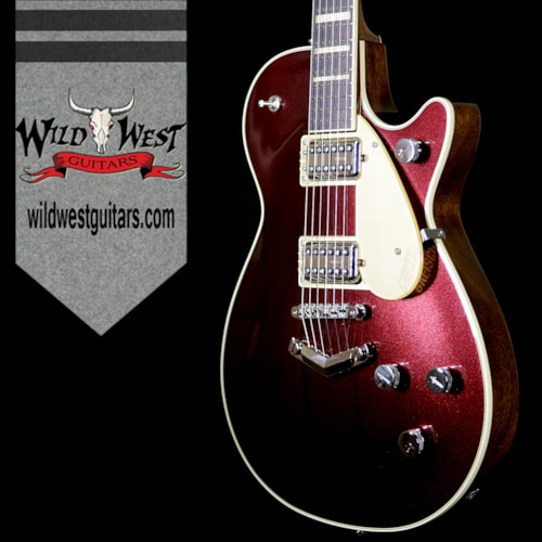 2018 Gretsch G6228 Player Edition Jet Broad'Tro BT65 Pickups V-Stopstail Rosewood Board Dark Cherry Metallic Dark Cherry Metallic, Brand New