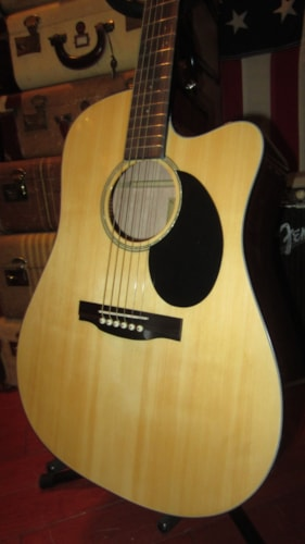 2018 Jasmine JD36CE Acosutic Electric Dreadnought w/ Cutaway Natural, Brand New, $299.00