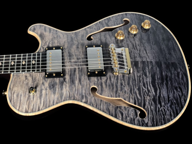 2018 Knaggs Chena Hollowbody Tier 2 Quilt Top Grey/Black Fade ~ Gloss, Brand New, Hard, $5,440.00