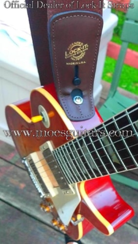 2018 Lock-It Guitar Straps Leather  Brown, Brand New, $69.99