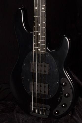 2018 MusicMan Stingray Stealth Black, Brand New, Hard