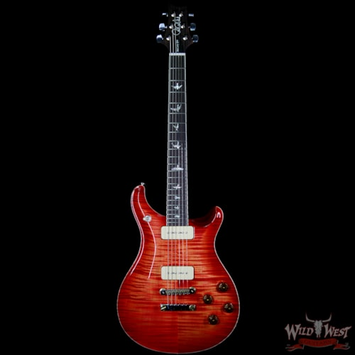 2018 Paul Reed Smith McCarty 594 Soapbar P90 Flame Maple Top Blood Orange
