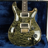 2018 Paul Reed Smith MINT  PRS Wood Library Custom 22 Semi Hollow 1 Piece Quilt 10 Top! Obsidian! Artist Case!