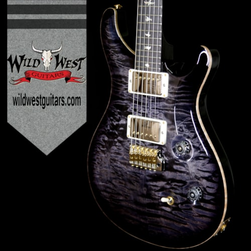 2018 Paul Reed Smith Wood Library 10 Top Custom 24 Fatback Flame Neck Charcoal Burst