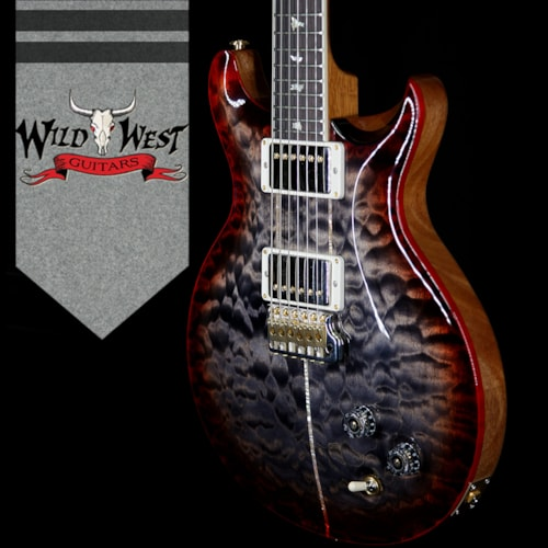 2018 Paul Reed Smith - PRS PRS Wood Library Quilt 10 Top Santana Retro Flame Mahogany Neck Brazilian Rosewood Board Charcoal Cherry Burst Charcoal Cherry Burst, Brand New, $4,899.00