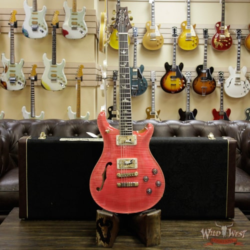 2018 Paul Reed Smith - PRS PRS Wood Library Flame 10 Top McCarty 594 Semi-Hollow Cocobolo Fingerboard Bonnie Pink Bonnie Pink