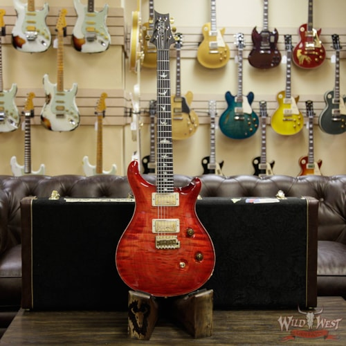 2018 Paul Reed Smith - PRS PRS Wood Library 10 Top Custom 24 Fatback 1- Piece Quilt Top Birdseye Neck Ebony Board Blood Orange Blood Orange, Brand New