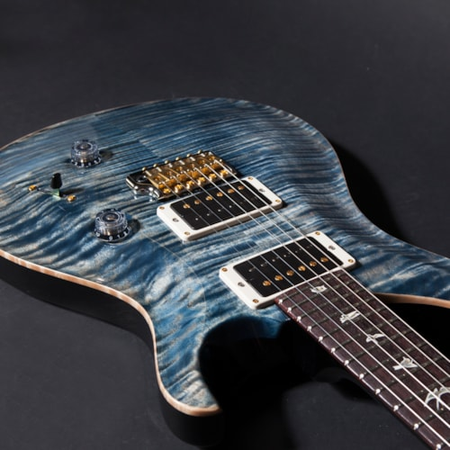 2018 Paul Reed Smith (PRS) Custom 24 10 Top Pattern Regular Neck Faded Whale Blue, Brand New, Original Hard