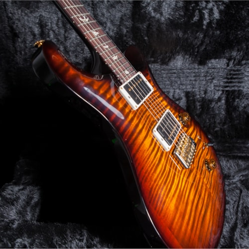 2018 Paul Reed Smith (PRS) Custom 24 10 Top Pattern Thin Black Gold Burst, Brand New, Original Hard