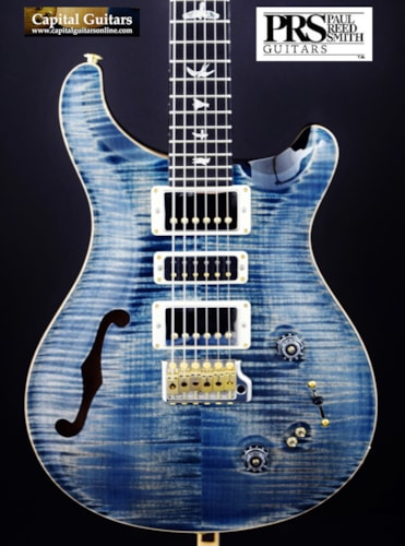 """2018 Paul Reed Smith Special 22 Semi-Hollow """"10 Top"""" Faded Whale Blue"""
