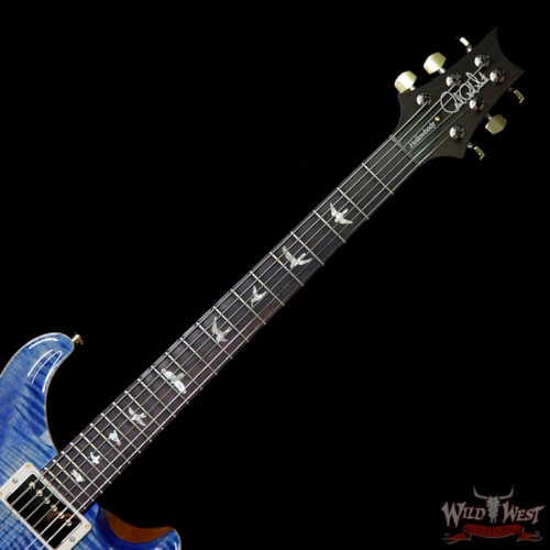 2018 PRS - Paul Reed Smith PRS Wood Library Flame 10 Top Hollowbody HB1 Piezo Brazilian Rosewood Board Faded Blue Jean Faded Blue Jean, Brand New, $5,399.00