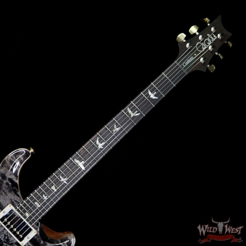 2018 PRS - Paul Reed Smith PRS Wood Library Quilted 10 Top Custom 24-08 Flame Mahogany Neck Brazilian Rosewood Fretboard Charcoal Charcoal, Brand New, $4,899.00