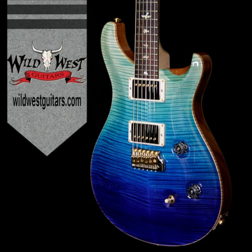 2018 PRS - Paul Reed Smith PRS Wood Library Artist Package Custom 24 Fatback Brazilian Rosewood Fretboard Blue Fade Blue Fade, Brand New, $5,099.00