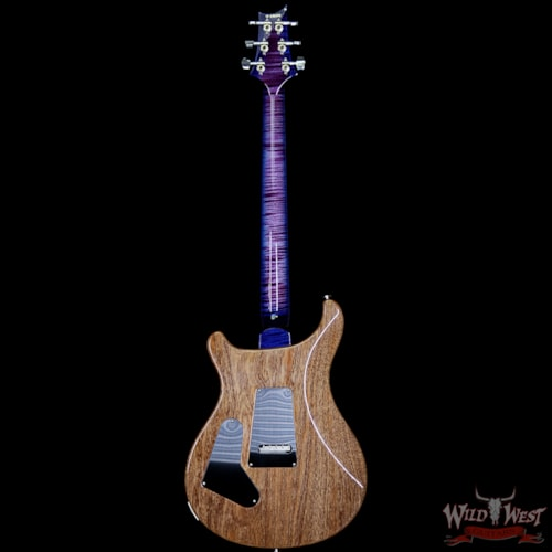 2018 PRS - Paul Reed Smith PRS Wood Library 10 Top Custom 24 Floyd Rose Quilt Top Flame Neck Ebony Board Violet Blue Burst Violet Blue Burst, Brand New, $4,899.00