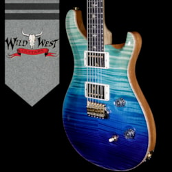 2018 PRS Wood Library 10 Top Custom 24 Flame Maple Top Korina Neck with Ebony Board Blue Fade