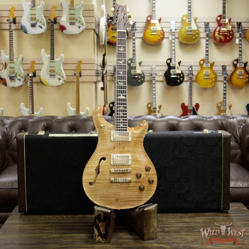 2018 PRS Wood Library 10 Top McCarty 594 Semi-Hollow Flame Maple Top Cocobolo Fingerboard Natural Natural