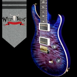 2018 PRS Wood Library 10 Top Custom 24 Flame Maple Top Korina Neck with Cocobolo Board Violet Blue Burst