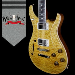 2018 PRS Wood Library Quilt 10 Top McCarty 594 Semi-Hollow Brazilian Rosewood Board Honey