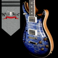2018 PRS Wood Library Quilt 10 Top McCarty 594 Semi-Hollow Brazilian Rosewood Board River Blue Smokeburst