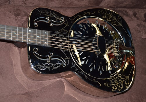 2018 Recording King SO-998-EF Limited Edition Metal Body Nickel, Brand New