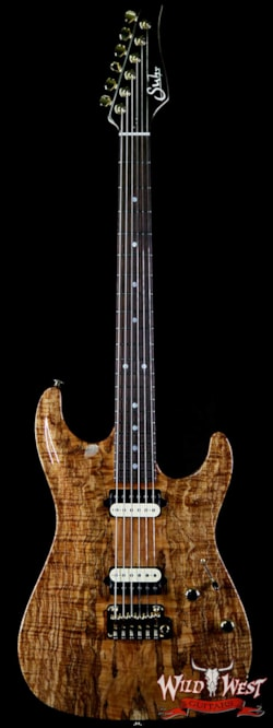 2018 Suhr Carve Top Standard HH Spalt Maple Top with Indian Rosewood Board Natural