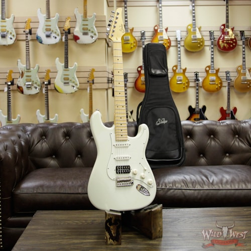 2018 Suhr Classic S (Classic Pro) HSS Maple Neck & Fingerboard Olympic White Olympic White, Brand New