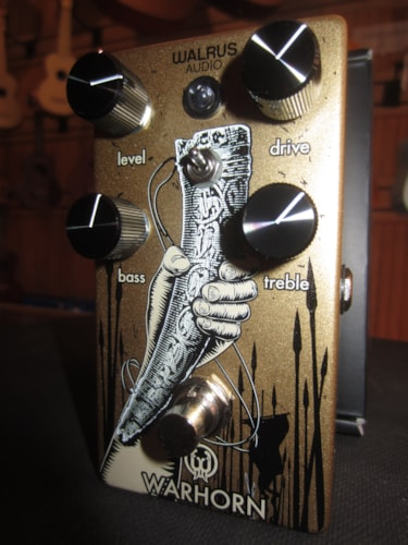 2018 Walrus Audio Warhorn Mid-Range Overdrive Gold, Brand New, Original Soft