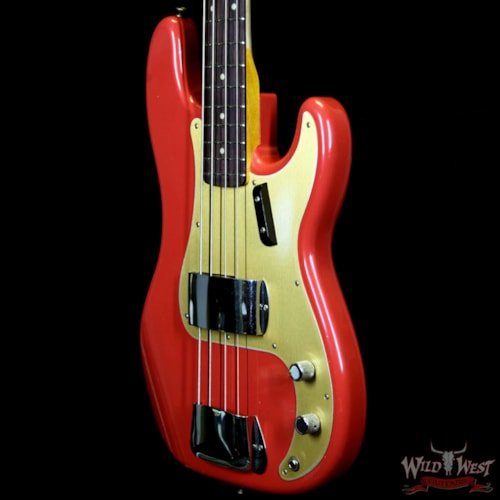 2019 Bass Guitars Fender Custom Shop 1959 Precision Bass Journeyman Relic AAA Rosewood Slab Board Hand-wound PU Fiesta Red Fiesta Red