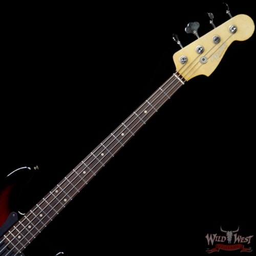 2019 Bass Guitars Fender Custom Shop Jason Smith Masterbuilt 1959 P/J Bass Journeyman Relic Black Cherry Burst Rosewood Slab Board Black Cherry Burst