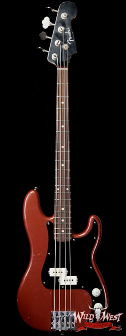 2019 Bass Guitars Fender Custom Shop Jason Smith Masterbuilt 60's Precision P-Bass Relic AAA Rosewood Slab Board Indian Fire Red