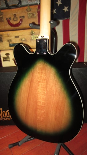 2019 Eastwood Micro-Frets Spacetone DLX Martian Green