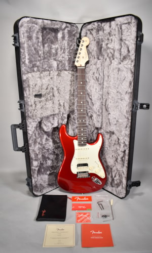 2019 Fender American Professional Stratocaster HSS Candy Apple Red Guitar w/OHSC