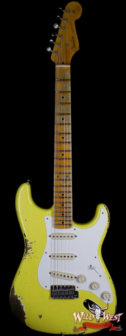 2019 Fender Custom Shop 1957 Stratocaster Heavy Relic Maple Neck Graffiti Yellow
