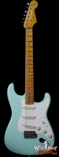 2019 Fender Custom Shop 1957 Stratocaster Maple Neck Journeyman Relic with Dirty Neck Surf Green Journeyman Relic
