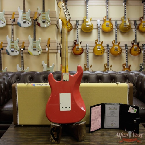 2019 Fender Custom Shop 1957 Stratocaster Maple Neck Journeyman Relic with Dirty Neck Fiesta Red Fiesta Red