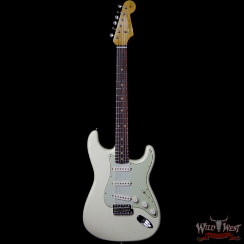 2019 Fender Custom Shop 1961 Stratocaster Journeyman Relic w/ Dirty Neck AAA Rosewood Slab Fingerboard Vintage White Vintage White