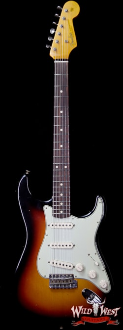2018 Fender Custom Shop 1961 Stratocaster Journeyman Relic Dirty Neck AAA Rosewood Slab Board 3 Tone Sunburst