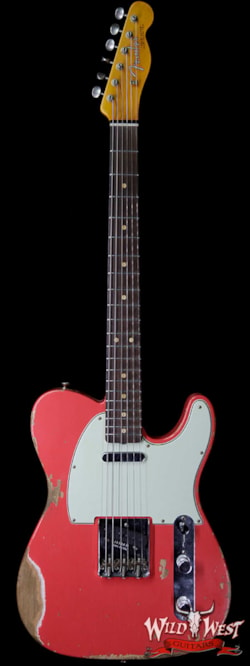 2019 Fender Custom Shop 1963 Telecaster Heavy Relic AAA Rosewood Fingerboard Fiesta Red
