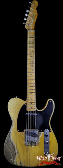 2019 Fender Custom Shop 2019 NAMM #403 Dale Wilson Masterbuilt 1952 Telecaster Heavy Relic Flame Maple Neck Smoked Blonde Butterscotch