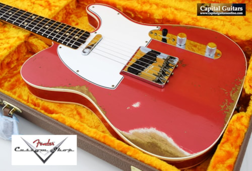 2019 Fender Custom Shop '60 Telecaster Custom Heavy Relic Faded Fiesta Red