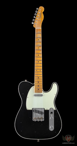 Fender Custom Shop Namm 2019 Limited Edition, Postmodern Tele, Journeyman Relic - Aged Black Top with Aged Pewter Back (882)