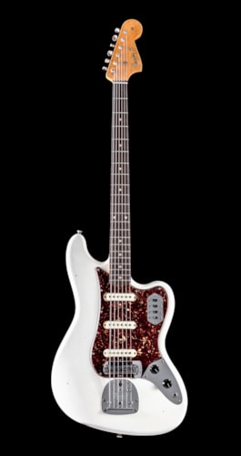 Fender Custom Shop Namm 2019 Limited Edition, Bass VI, Journeyman Relic - Aged Olympic White (870)